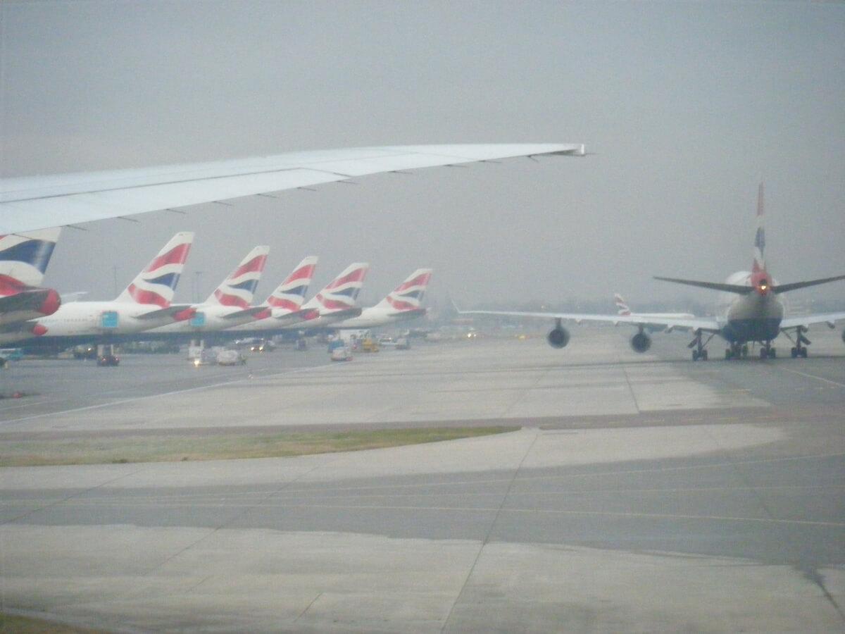 飛行場の風景