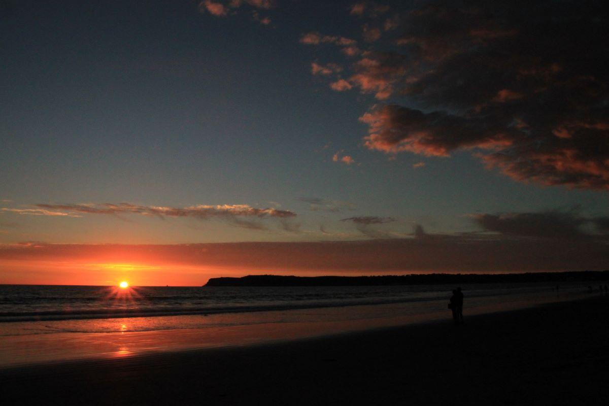 コロナドビーチの夕焼け